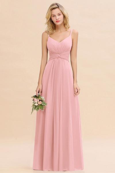 BM0762 Elegant A-line Ruffles Spaghetti Straps Bridesmaid Dress_4