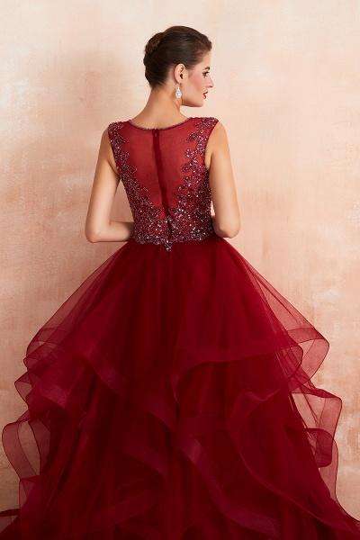 Wonderful V-neck Tulle A-line Prom Dress_10