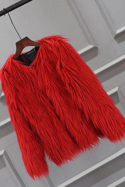 Women's Winter Daily Fashion Street Faux Fur Coat_3