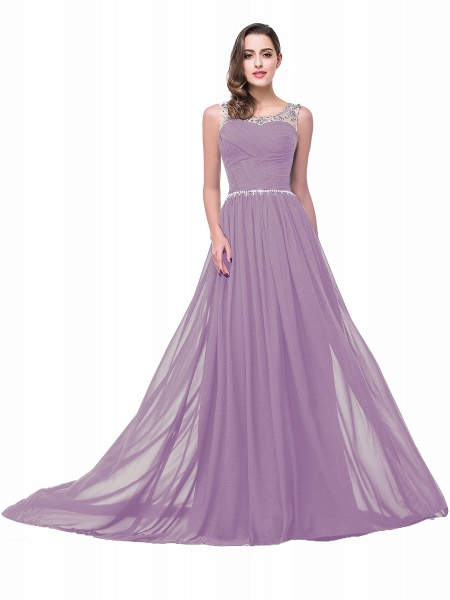 Precious Jewel Chiffon A-line Evening Dress_8