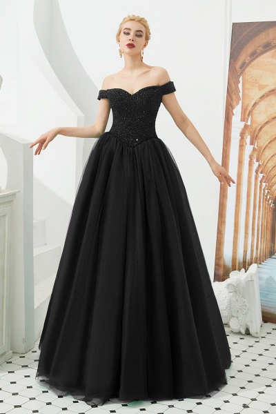 Glorious Off-the-shoulder Tulle A-line Prom Dress_2
