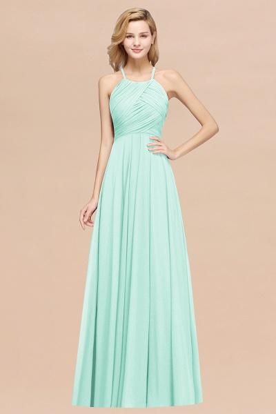 A-Line Chiffon Halter Ruffles Floor-Length Bridesmaid Dress_36