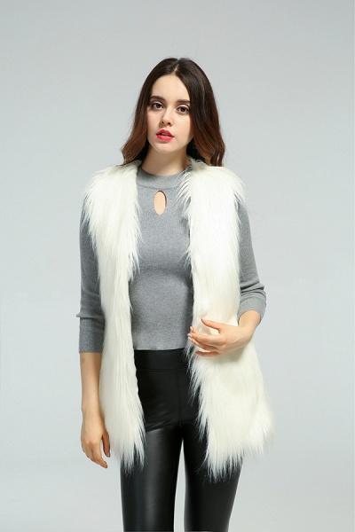Women's Daily Fall & Winter Faux Fur Vest Coat_1