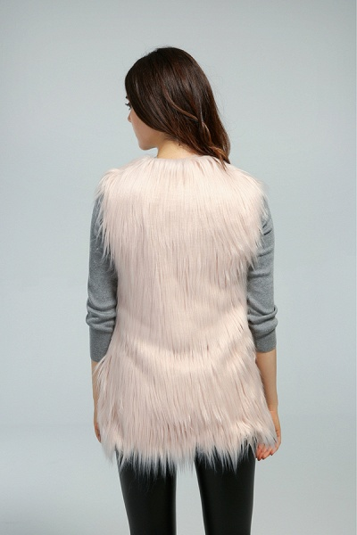 Women's Daily Fall & Winter Faux Fur Vest Coat_16