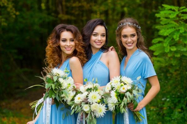 Convertible Blue Long Bridesmaid Dresses | Sexy Maid of Honor Dresses_8