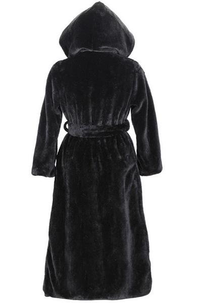 Women's Daily Street Hooded Long Faux Fur Coat_3