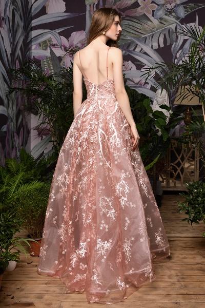 Dusty Pink Spaghetti Strap A-line Lace Prom Dress_11
