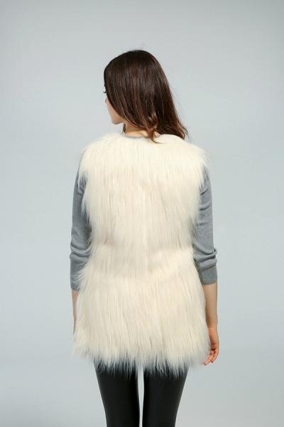 Women's Daily Fall & Winter Faux Fur Vest Coat_13
