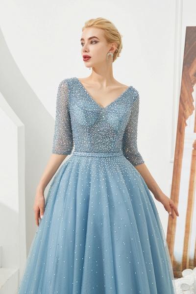 Chic V-neck Tulle A-line Prom Dress_5