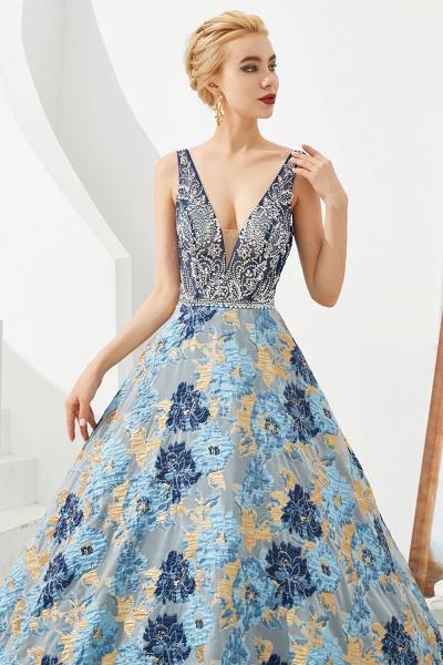 Beautiful V-neck Satin A-line Prom Dress_8