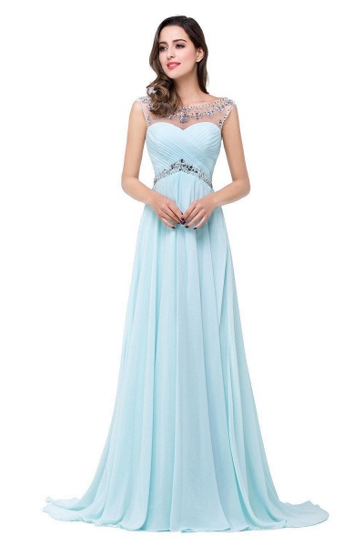 A-line Sweetheart Crystal Chiffon Evening Dress_6