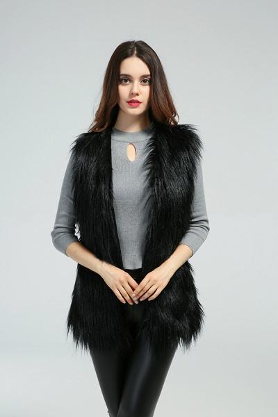 Women's Daily Fall & Winter Faux Fur Vest Coat_4