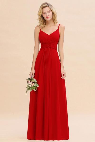 BM0762 Elegant A-line Ruffles Spaghetti Straps Bridesmaid Dress_8