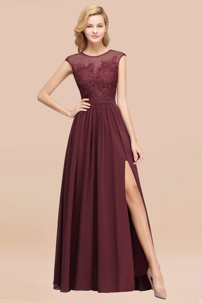A-line Chiffon Lace Jewel Sleeveless Floor-Length Bridesmaid Dresses with Appliques_47