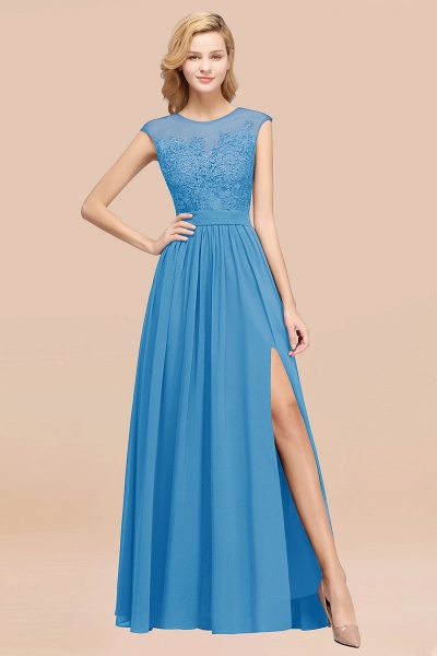 A-line Chiffon Lace Jewel Sleeveless Floor-Length Bridesmaid Dresses with Appliques_25