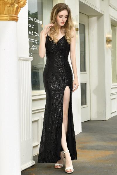 Amazing Spaghetti Strap Split Sequins Prom Dress_5