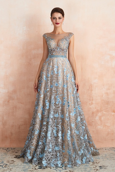 Beautiful Jewel Lace A-line Prom Dress_2
