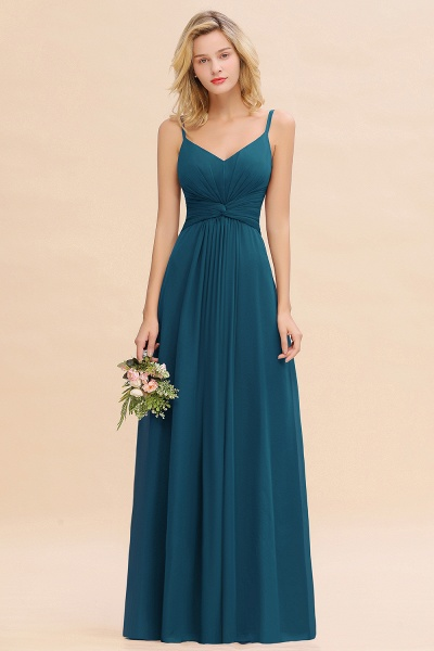 BM0762 Elegant A-line Ruffles Spaghetti Straps Bridesmaid Dress_27