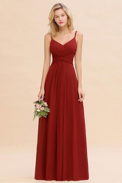 BM0762 Elegant A-line Ruffles Spaghetti Straps Bridesmaid Dress_48