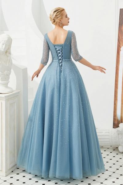 Chic V-neck Tulle A-line Prom Dress_8