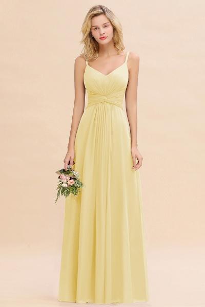 BM0762 Elegant A-line Ruffles Spaghetti Straps Bridesmaid Dress_18