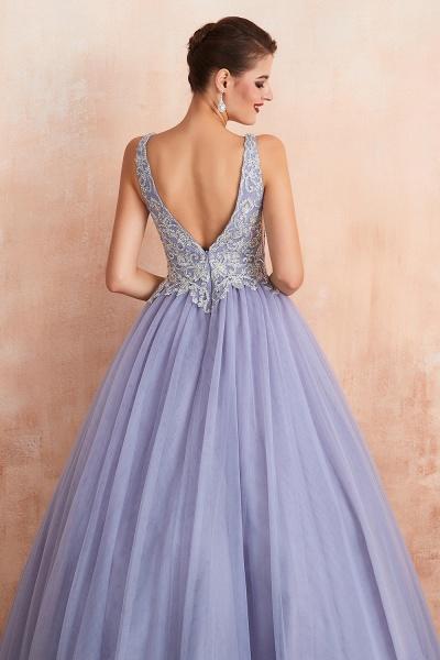 Excellent V-neck Tulle Princess Prom Dress_10
