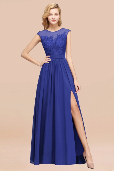 A-line Chiffon Lace Jewel Sleeveless Floor-Length Bridesmaid Dresses with Appliques_26