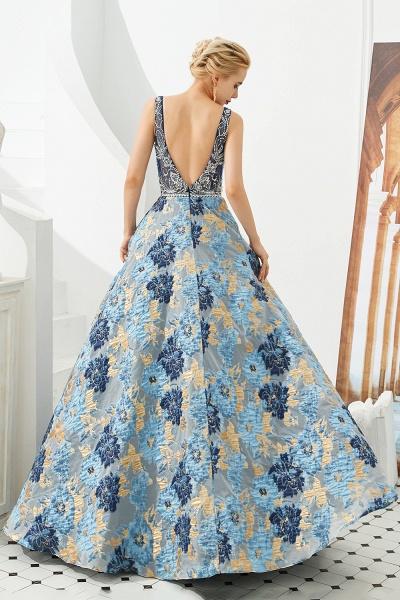 Beautiful V-neck Satin A-line Prom Dress_6