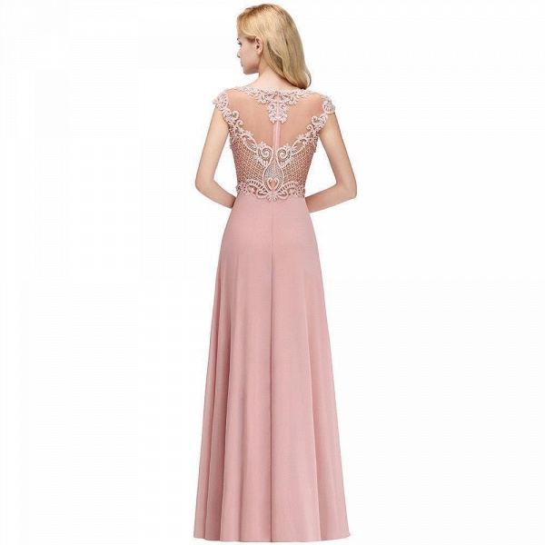 A-line Crystal Decorated Floor Length Evening Dress_6