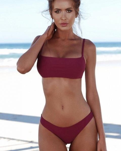 Women Bikini Set Swimsuit Push Up Padded Bra High Cut Bottoms Swimwear_3
