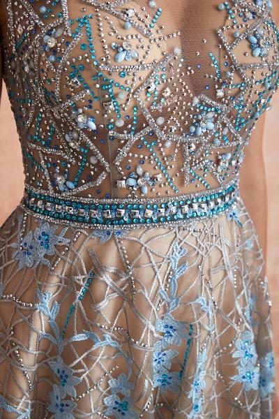 Beautiful Jewel Lace A-line Prom Dress_8