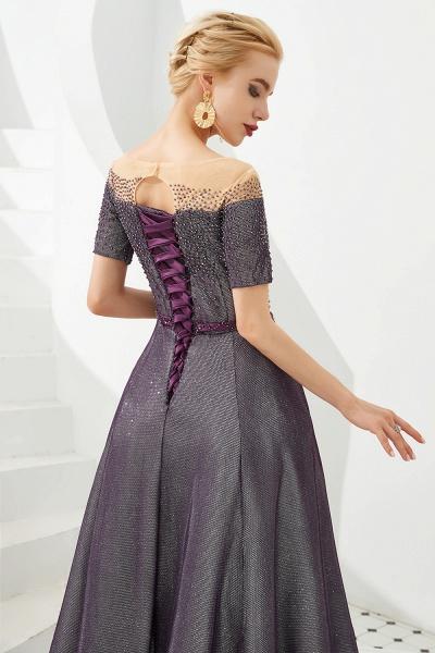Fascinating Jewel Bright silk Princess Prom Dress_11