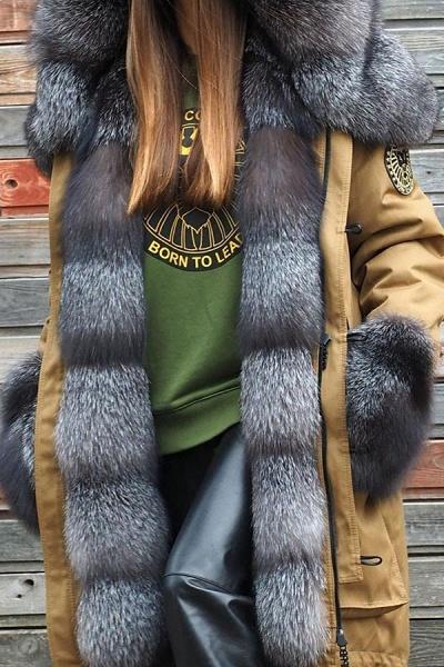 Winter Fur-trimmed Long Faux Fur Coat_4