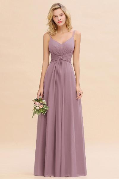 BM0762 Elegant A-line Ruffles Spaghetti Straps Bridesmaid Dress_43