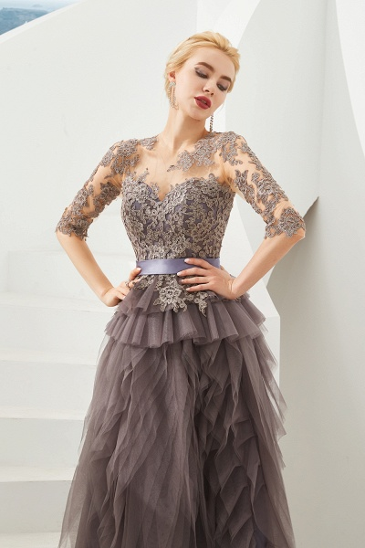 Fabulous Jewel Tulle Ball Gown Prom Dress_3