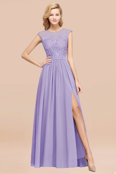 A-line Chiffon Lace Jewel Sleeveless Floor-Length Bridesmaid Dresses with Appliques_21