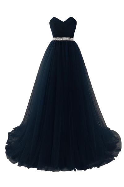 Glorious Strapless Organza A-line Evening Dress_5