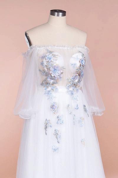 Off-the-Shoulder Appliques Tulle Wedding Dress_6