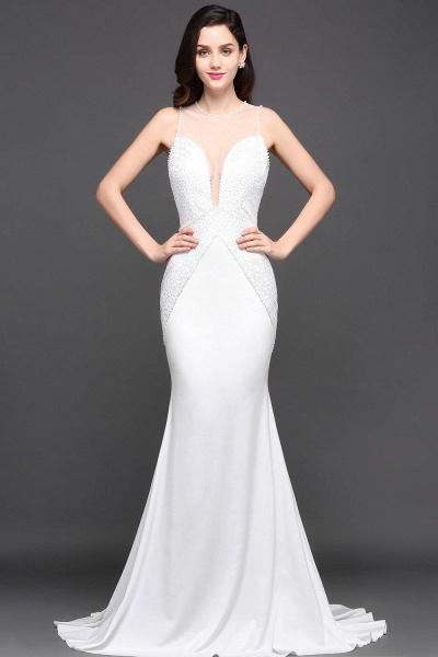 Modest Jewel Chiffon Mermaid Evening Dress_2