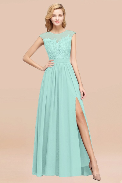 A-line Chiffon Lace Jewel Sleeveless Floor-Length Bridesmaid Dresses with Appliques_36