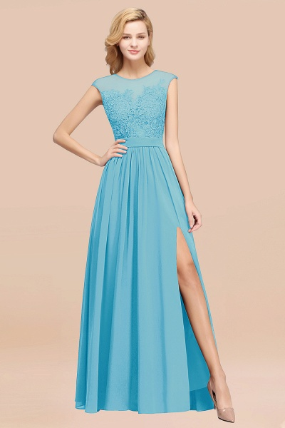 A-line Chiffon Lace Jewel Sleeveless Floor-Length Bridesmaid Dresses with Appliques_24