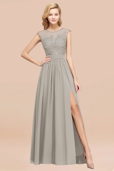 A-line Chiffon Lace Jewel Sleeveless Floor-Length Bridesmaid Dresses with Appliques_30