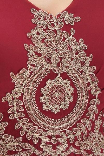 A-Line Chiffon Lace Ruffles Evening Dress_7