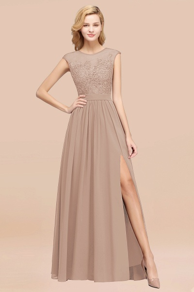 A-line Chiffon Lace Jewel Sleeveless Floor-Length Bridesmaid Dresses with Appliques_16