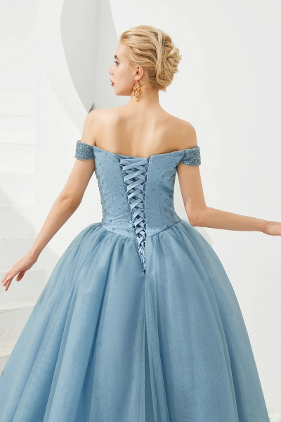 Glorious Off-the-shoulder Tulle A-line Prom Dress_24