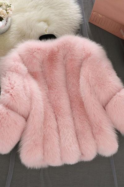 Women's Daily Basic Street Winter Faux Fur Coat_10