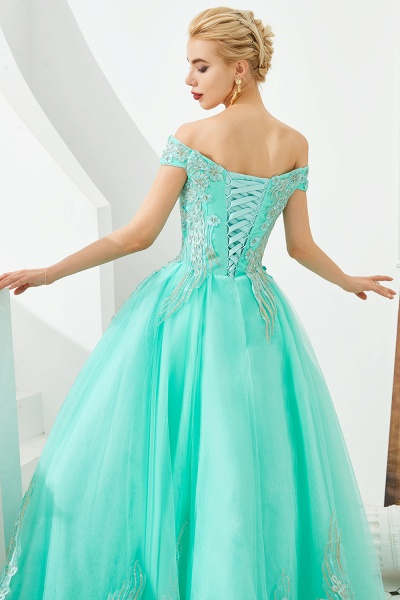 Beautiful Off-the-shoulder Tulle Ball Gown Prom Dress_16