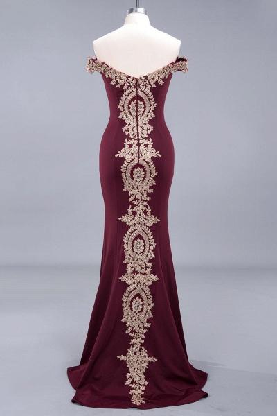 Elegant Bateau Healthy Mermaid Evening Dress_15