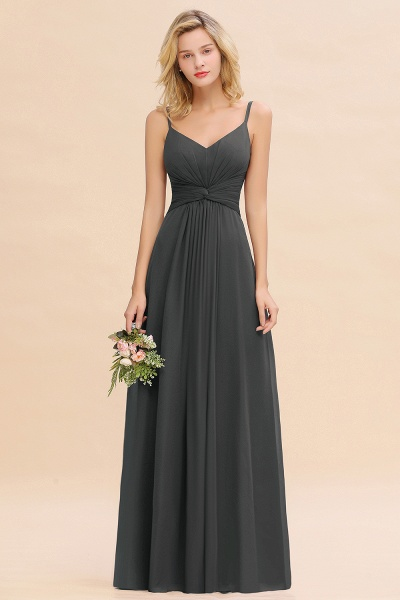 BM0762 Elegant A-line Ruffles Spaghetti Straps Bridesmaid Dress_46