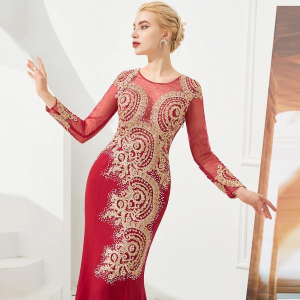 Attractive Jewel Tulle Mermaid Prom Dress_11